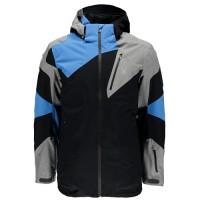 Spyder Leader Jkt (Black/Polar Herringbone/French Blue-18)